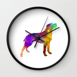 Bohemian Wirehaired Pointing Griffon in watercolor Wall Clock