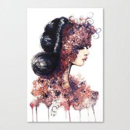 Flower Girl // Fashion Illustration Canvas Print