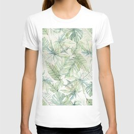 Green Tropical Leaves T-shirt