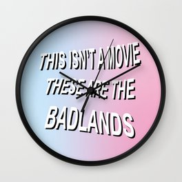 BADLANDS TRAILER // HALSEY Wall Clock