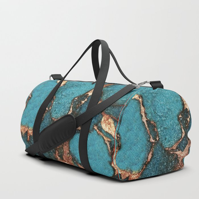 GEMSTONE  & GOLD AQUA Duffle Bag