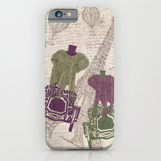 Two elephants in Paris iPhone & iPod Case