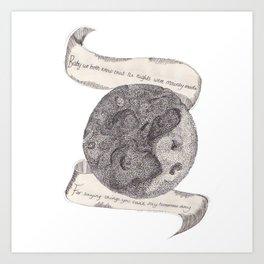 The Secret Moon  Art Print