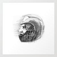 Helmet women Art Print