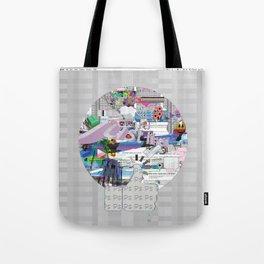grey mandala Tote Bag