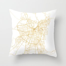 SANTIAGO DE CHILE CITY STREET MAP ART Throw Pillow
