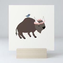 Buffalo Rose Pink Mini Art Print