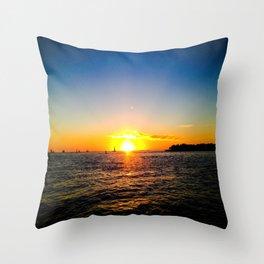 Toast to the Sunset Throw Pillow