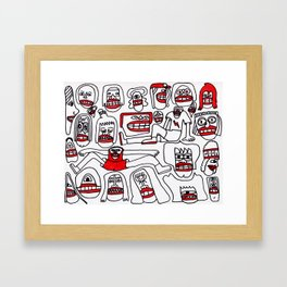 The Whole Crew Framed Art Print