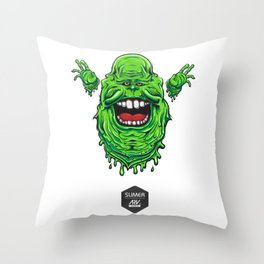Slimer The Slippery Throw Pillow