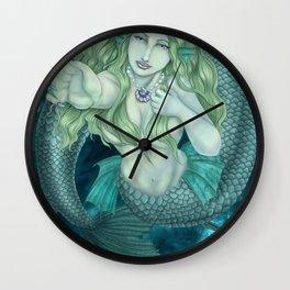 Mermaid Touch Wall Clock