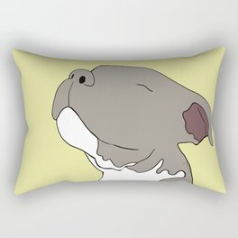 Sunny The Pitbull Puppy Rectangular Pillow