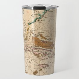 Vintage Map of The Caribbean (1672) Travel Mug