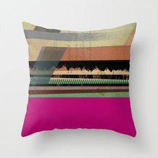 Pink Block Throw Pillow
