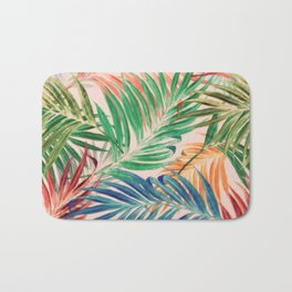 Palm Leaves in color Bath Mat