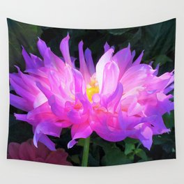 Stunning Pink and Purple Cactus Dahlia Wall Tapestry