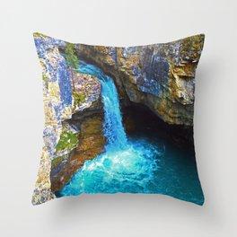 Stanley Waterfall & Beauty Creek, Jasper National Park Throw Pillow
