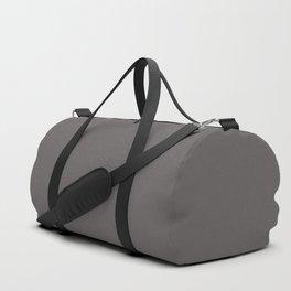 Solid Dark Carbon Gray Color Duffle Bag