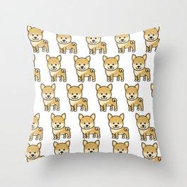 shiba inu Gift for Kids shiba inus Dogs Throw Pillow