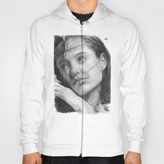 Angelina Jolie Traditional Portrait Print Hoody