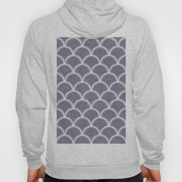 Large lilac gray scallops with fractal texture Hoody