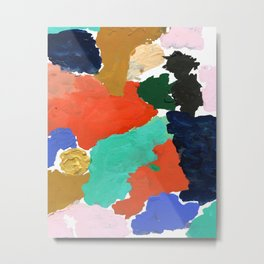 Kara - paint palette abstract minimal modern art bright colorful boho urban painting college dorm Metal Print