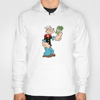 popeye Hoodies featuring Popeye the Sailor Man by CromMorc