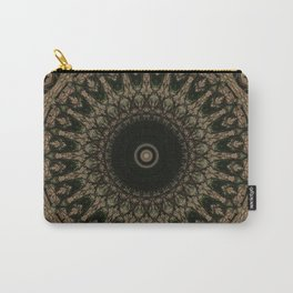 Mandala in different brown tones Carry-All Pouch