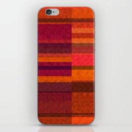 """Pink and Purple Burlap & Velveteen"" iPhone Skin"