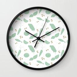 Garden Vegetable Wall Clock