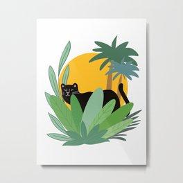black panther Metal Print