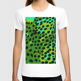 Cheetah Spots in Green and Blue T-shirt