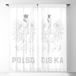 Poland Eagle Emblem Polska Polish Blackout Curtain