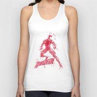 daredevil Tank Tops featuring Daredevil Superhero by Carma Zoe
