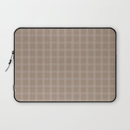 Christmas Woodland Bronzed Brown Tartan Check Plaid Laptop Sleeve