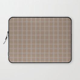 Christmas Woodland Bronzed Brown Tartan Check Plaid Laptop Sleeve