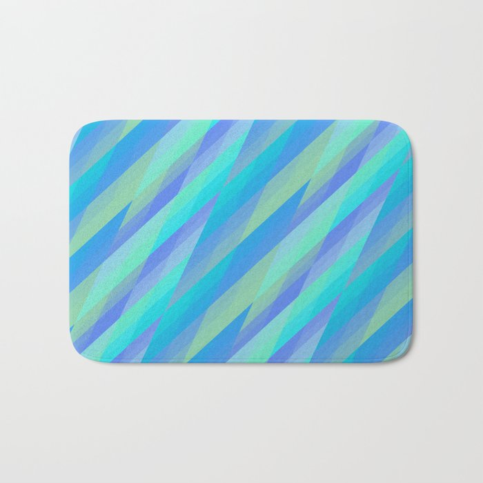 Harmony, geometric patterns abstract in pastels Bath Mat