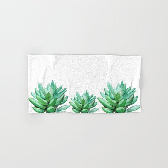 succulent echeveria Hand & Bath Towel
