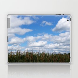 "Corn field in autumn with ""popcorn"" clouds Laptop & iPad Skin"