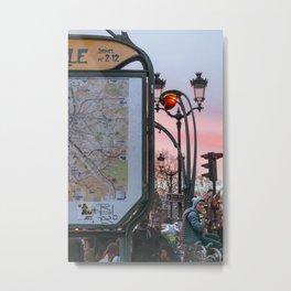 Parisian Mugshots - Metro Pigalle (Gueules de Parisiens) Metal Print