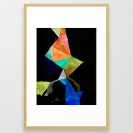 trenching Colors Framed Art Print