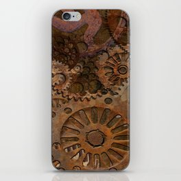 Changing Gear - Steampunk Gears & Cogs iPhone Skin
