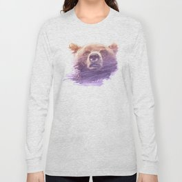 BEAR SUPERIMPOSED WATERCOLOR Long Sleeve T-shirt