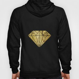 Rich Gold Shimmering Glamorous Luxury Marble Hoody
