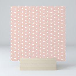 Light Sandal Heart Shape Pattern Mini Art Print