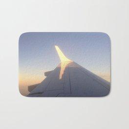 Sunlight on a Plane Wing Bath Mat
