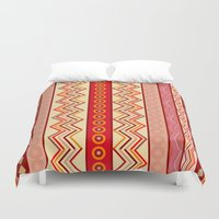 tribal Duvet Covers featuring Tribal by Julscela