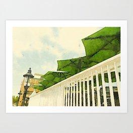 Old Town Alexandria Patio Umbrellas Art Print