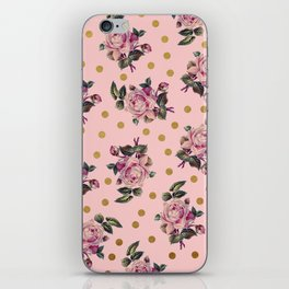Pink Roses on Pink iPhone Skin