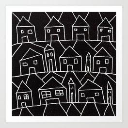 Suburban Scream Art Print